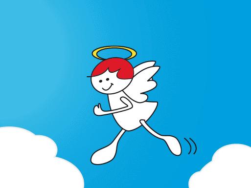 Running Angel Logoentwicklung